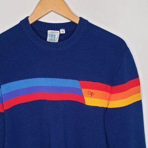 Vintage OP Rainbow Stripe Pullover Sweater